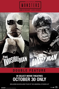 Poster of Wolfman (1941) & The Invisible Man (1933) Double F