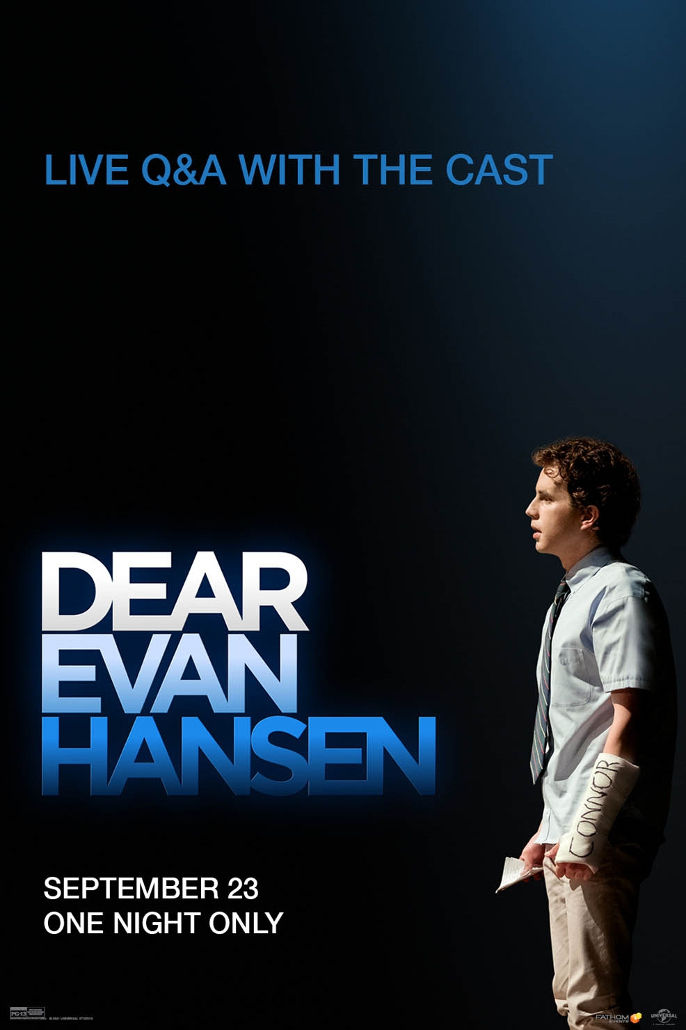 Poster of Dear Evan Hansen w/Live Q&A With Cast