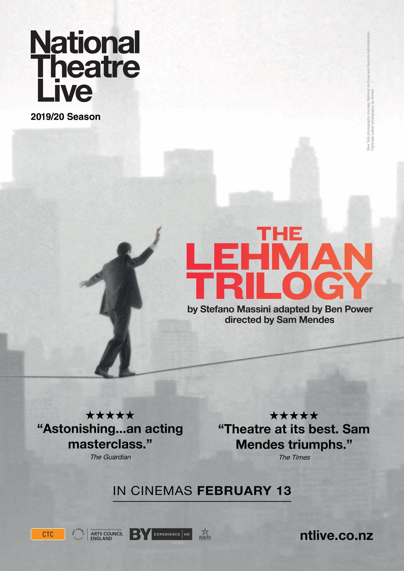 Poster of National Theatre Live: The Lehman Trilogy