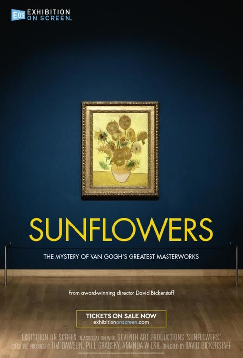 Poster of Exhibiton on Screen: Sunflowers